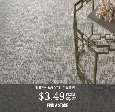 100% Wool Carpet from $3.49 sq.ft.