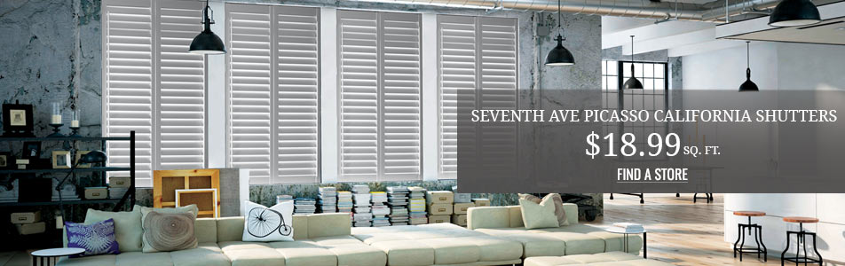 Seventh Ave Picasso California Shutters $18.99 sq.ft.
