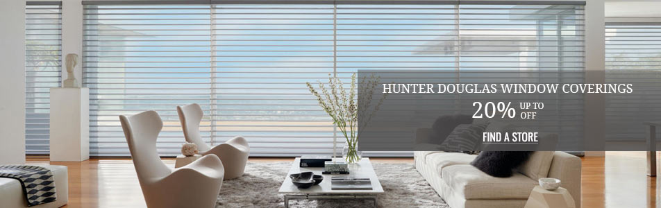 Up to 20% off Hunter Douglas Window Coverings