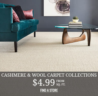 Cashmere & Wool Carpet Collections from $4.99 sq.ft.