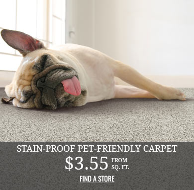 Stain-Proof Pet-friendly Carpet from $3.55 sq.ft.