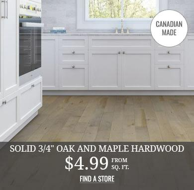 Canadian Made Solid Oak and Maple Hardwood from $4.99 sq.ft.