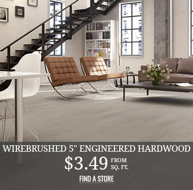 Wirebrushed Engineered Hardwood from $3.49 sq.ft.