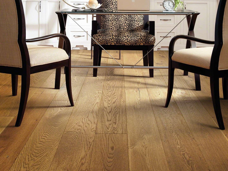 Hand-scraped White Oak Hardwood Flooring