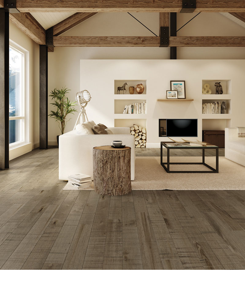 Wire Brushed White Oak Hardwood Flooring at Alexanians