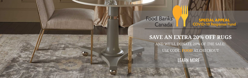 Save an Extra 20% on Rugs and Help Support Your Local Community Food Bank!