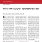 Proton therapy for colorectal cancer