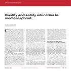 Quality and safety education in medical school
