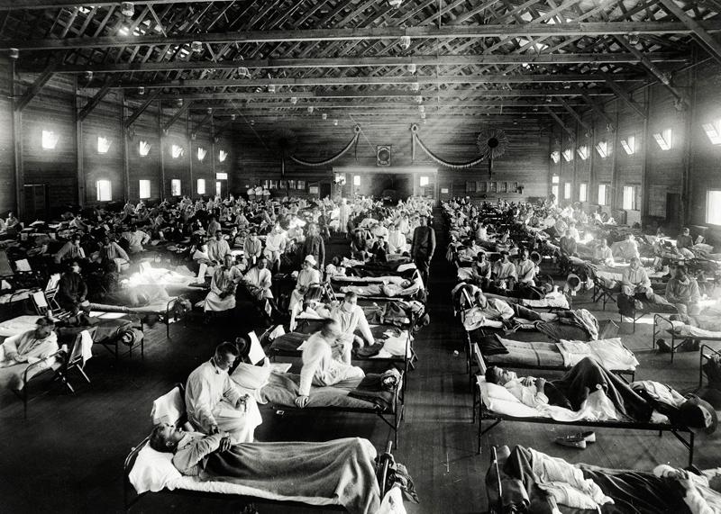 Camp Funston, Kansas, epidemic