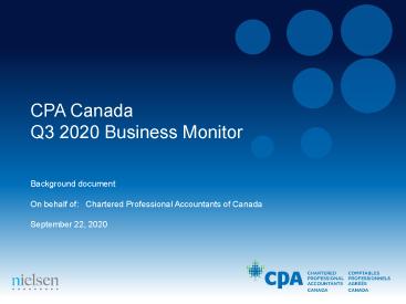 CPA Canada Business Monitor