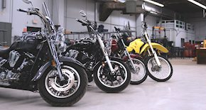 Four Motorcycles lined up