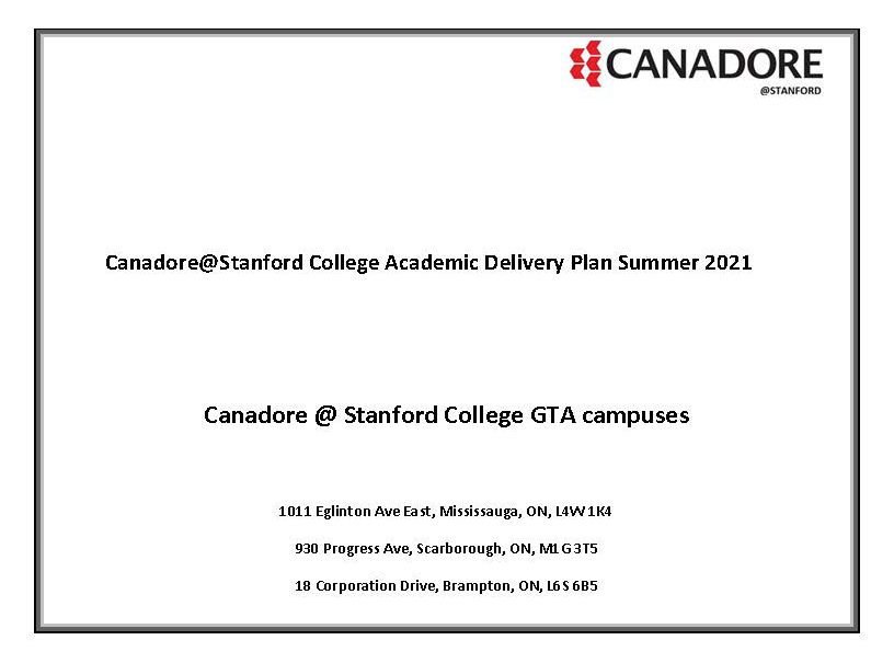 Stanford Academic Delivery Plan S21