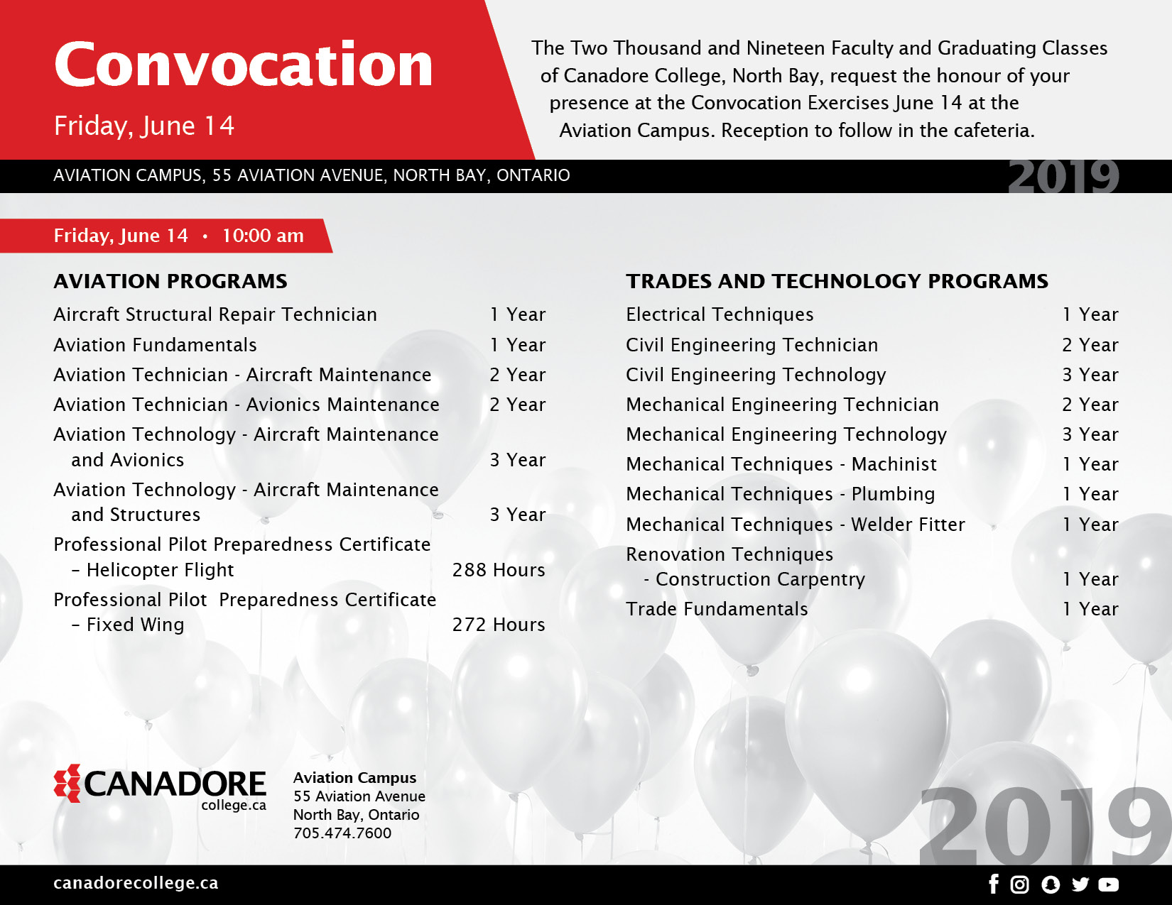 June 14 Convocation Invite