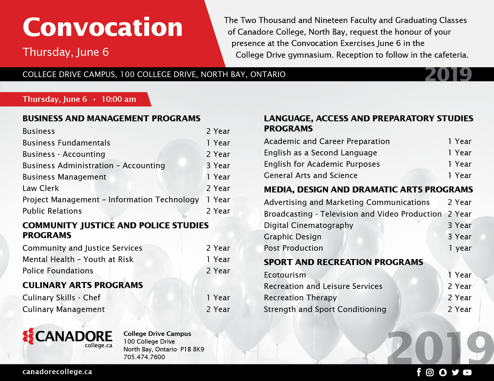 June 6th Convocation Invite