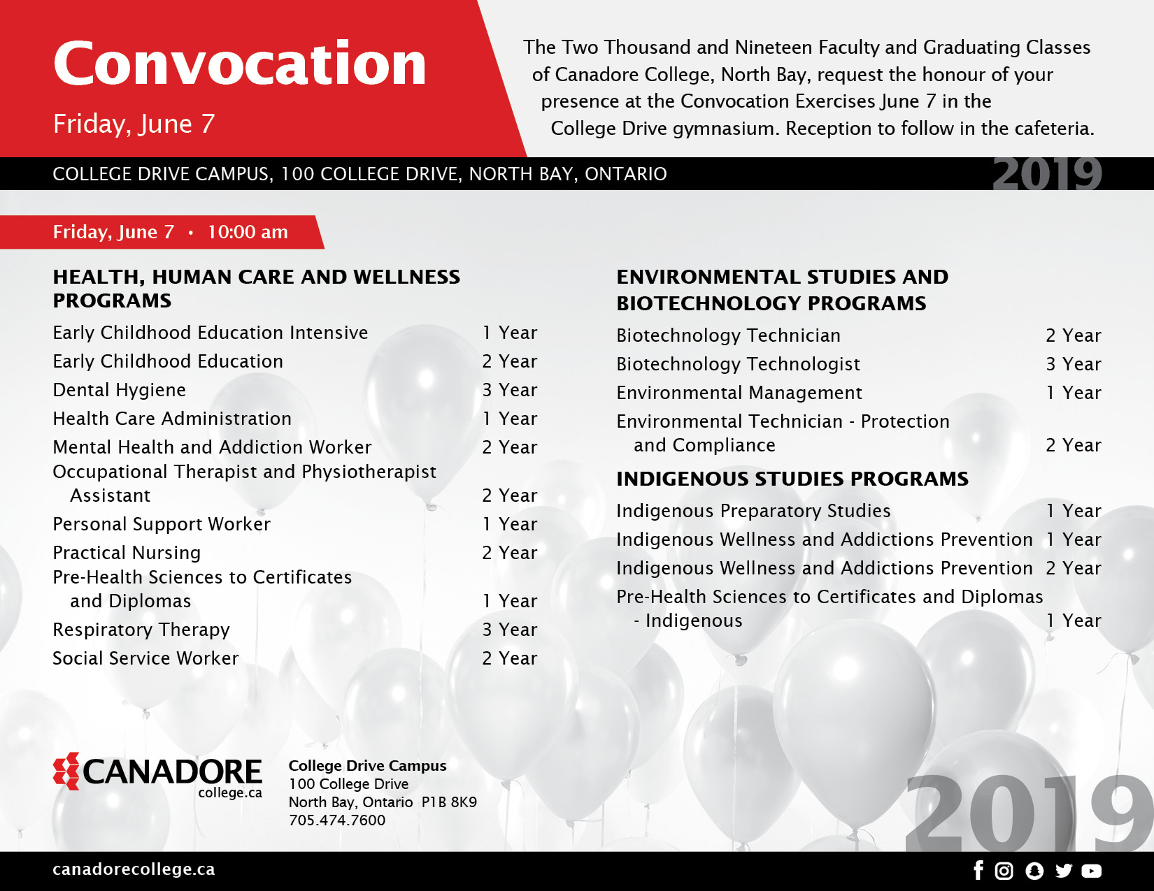 June 7 Convocation Invite