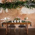 A sweetheart table at The Amsler Building