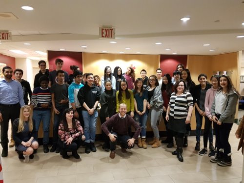 CPA Ontario representatives visit a Junior Achievement Central Ontario company night.