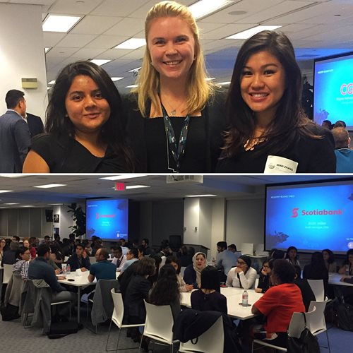 Emma visits Ryerson University's Co-op Students Association's industry networking night.