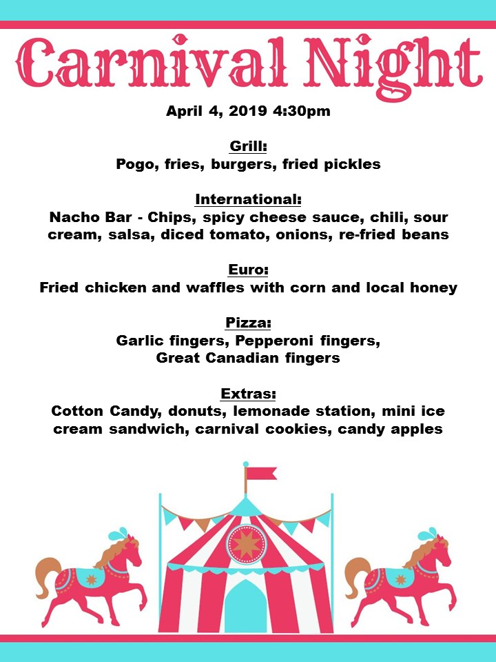 Carnival Night at Wheelock Dining Hall