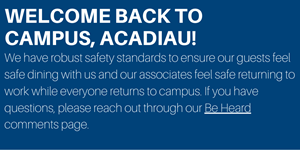 welcome back safety message