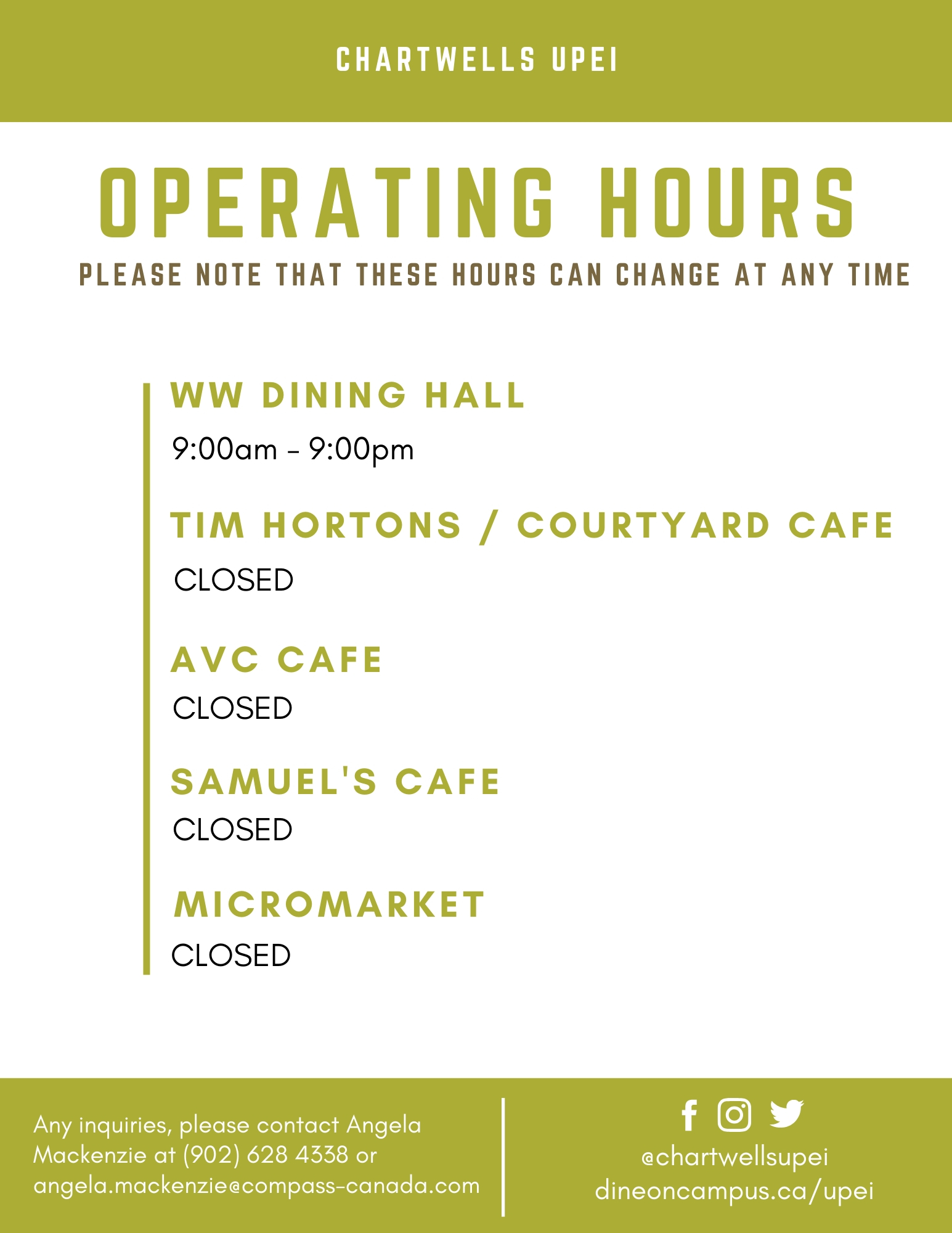 Current Operational Hours