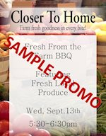 Sample Promo - Fresh from the farm