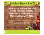 Haley Snack Bar
