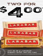 Two for $4 Lara Bars
