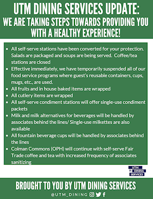 UTM Dining Services Update