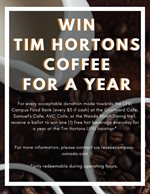 Free Tims Coffee for A Year