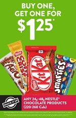 Nestle Chocolate: BOGO for $1.25