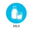 Milk allergen icon