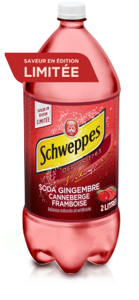 Schweppes Soda gingembre canneberge framboise
