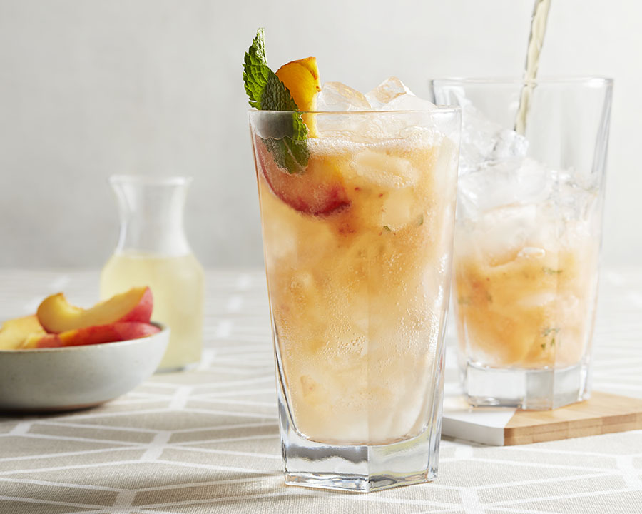 Peach & Ginger Cooler