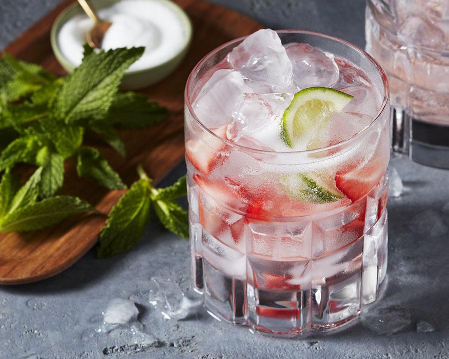 Vigoureux gin aux fraises
