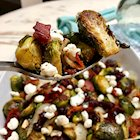 Cranberry Maple Bacon Brussels Sprouts