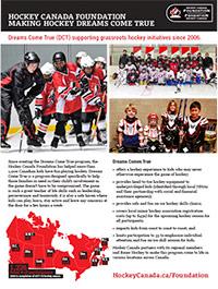 Hockey Canada Foundation Dream Come True fact sheet