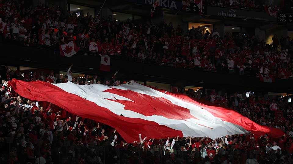 crowd flag