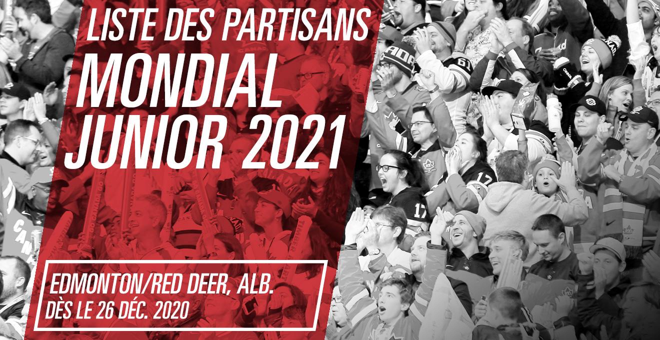 Billets pour le Mondial junior 2021