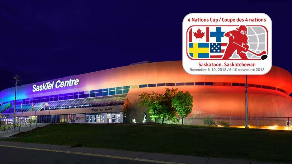 sasktel centre with logo