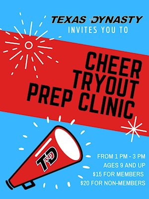 Cheer Tryout Prep Clinic