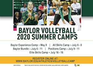 Baylor Volleyball Summer Camps - Elite Skills Camp