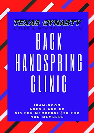 Back Handspring Clinic