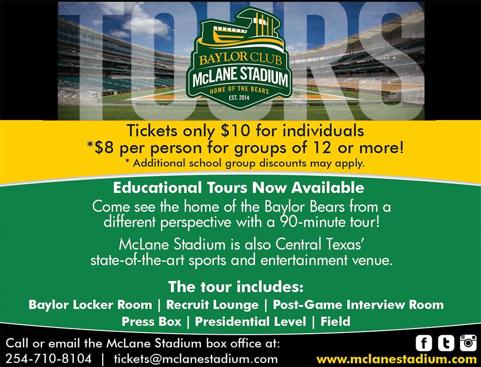 Baylor University McLane Stadium Field Trips