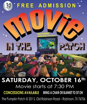Movie in The Patch - The Pumpkin Patch Robinson, Tx