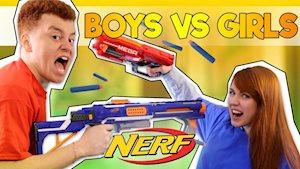 Nerf Night-Boys vs Girls - HOT Cheer