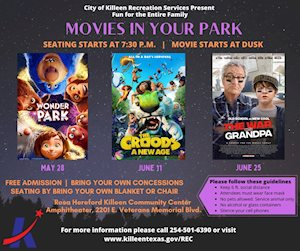 Movies in Your Park - Killeen Amphitheater