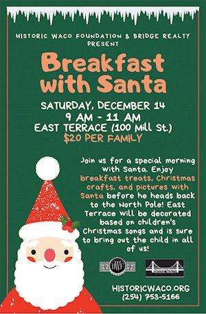 Breakfast with Santa - Historic Waco Foundation