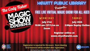 Virtual Event - Hewitt Library Presents Magic Show by Cody Fisher