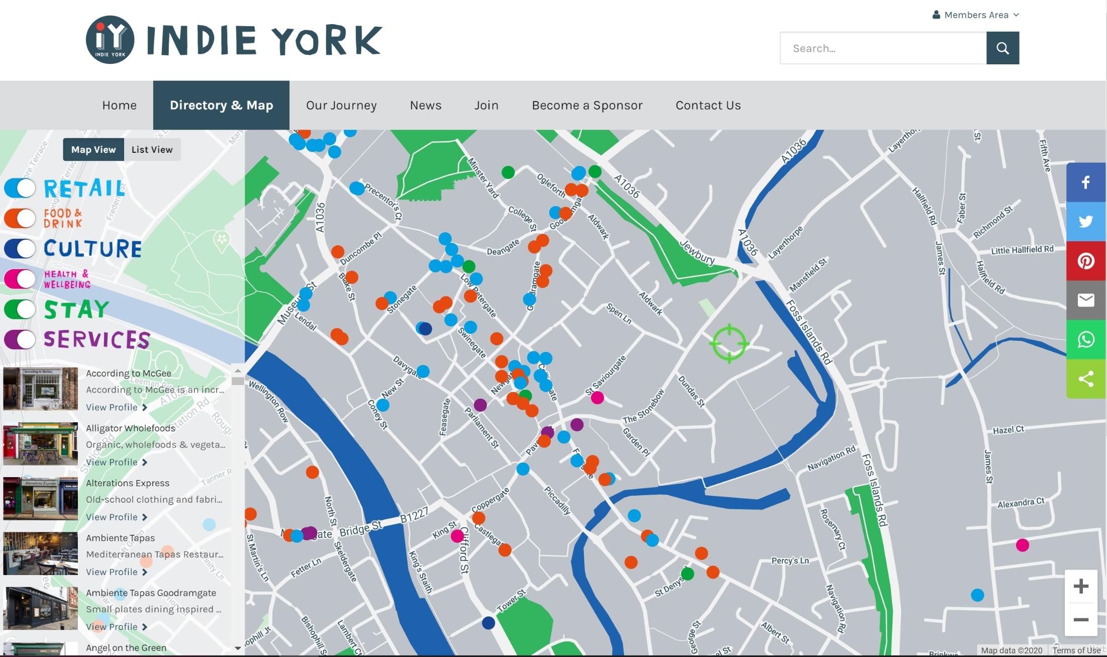 Indie York Website Redevelopment